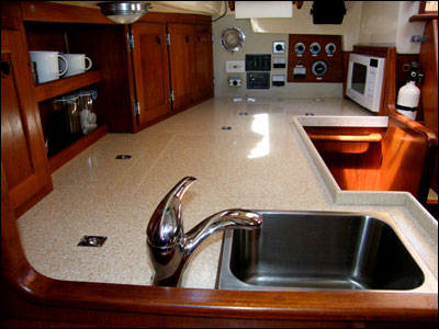 My new galley! (Photo by Carolyn O'Brien, S/V Windborne III)